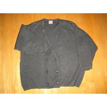 Cardigan Saco Excelente Sweater Gris Cruzado T. 48 / 50