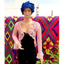 Saco Circular Tejido A Crochet .romantico Y Sensual ...!!!