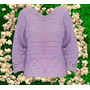 Sweater Lila Crochet Invierno Otoño Primavera Verano
