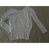 Hermosa Sweater Escote En V, Cortito Con Elástico