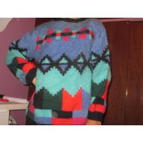 Hermoso Sweater Tejido Artesanal