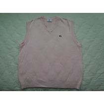 Sweater Chaleco Lacoste Talle 6 = Xl Escote En V