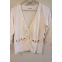 Sacos/sweater De Hilo Y Lycra Con Canutillos T L/s