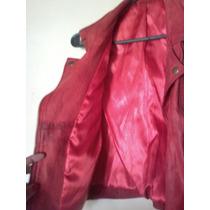 Chaleco De Cuero Rojo