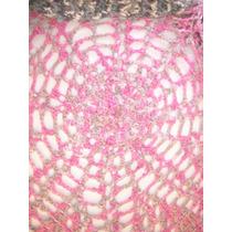 Saco Unico Matizado Sedoso Tejido Circular Croche Abierto