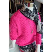Sweater Tejido De Lana Tramado De Rombos Colección Invierno