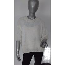 Sweater Pullover Angora Tejido A Mano - Para Mujer - Unico