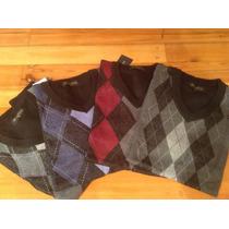 Sweaters ,pullover Hombre Escote V Con Rombos Día Del Padre