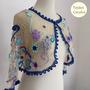 Cardigan En Crochet Irlandes Saco Tejido Al Crochet