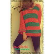 Sweter Tejido Al Crochet Locamente Indumentaria