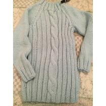 Sweater Tejido A Mano Pura Lana