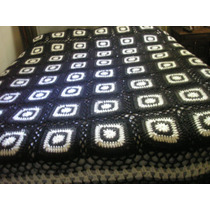 Colcha Tejida Al Crochet A Mano Dos Plazas