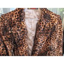 Saco Animal Print Tipo Terciopelo Leopardo Simil Piel Usa