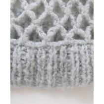 Sweater Gris Perla Calado Diseño Agustina Freyre