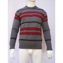 Sweaters De Lana Sodio Jeans Cuello Redondo Para Hombre