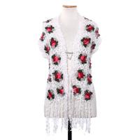 Chaleco De Lana Tejido Al Crochet Mujer