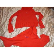 Sweater Polera Con Bufanda Y Capucha Paula Cahen D Anvers