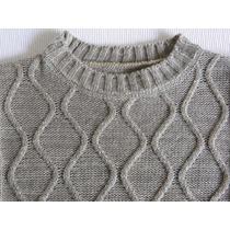 Sweater Pullover Lana Sintética No Pica Abrigado Como Nuevo