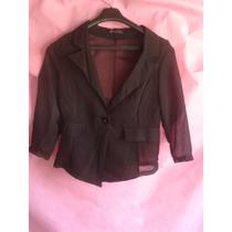 Saquito Negro Tipo Camisa Transparente Importado Usa