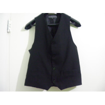 Chaleco Vestir Elegante T Xs 36 Negro Imperdible Regalo