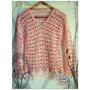 Sweter De Algodon Tejido Al Crochet