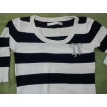 Saquito Sweater Como Quieras Que Te Quiera Azul Y Blanco