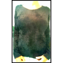 Sweater, Pulover Piel De Mono Blanco Y Negro