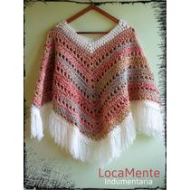 Poncho Tejido Artesanal Crochet
