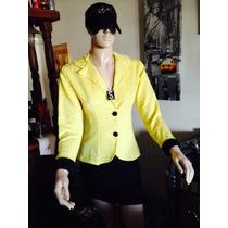 Saco Vestir Color Amarillo Ultima Moda Envíos Talle Único