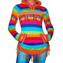 Shakiras Sweaters Pullover Con Capucha De Lana De Alpaca X6u