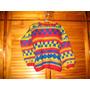 Sweater Pullover Lana Tejido A Mano Amarillo Rojo Azul Cuad