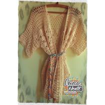 Kimono Saquito Tejido A Crochet Locamente Indumentaria