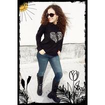 Sweaters Buzo De Hilo De Lana Con Capucha Corazón