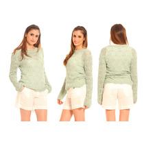 Sweater Tejido Calado Verano Todos Los Talles