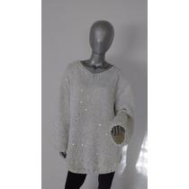 Sweater / Pullover Tejido A Mano - Diseño Exclusivo - Unico
