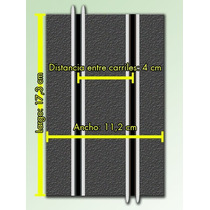 Autoslot- Par De Tramos De Pistas 1/43 Scalextric Económicas
