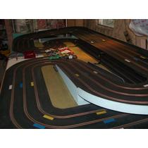 Pista Scalextric 3 Vias 1 Trafo X Via 7 Autos Excelente