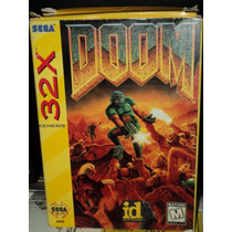 Doom Para Sega 32x Con Caja Y Manual!!!!!!