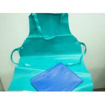 Delantal De Pvc, Liviano,60x90,verde Y Azul.