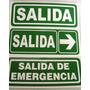 Cartel De Señalización - Salida - Seguridad Industrial