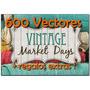 600 Vectores Vintage,sublimacion,estampado Envio Inmediato