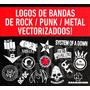 Pack Vectores Bandas - Musica / Serigrafía / Diseños Extras!