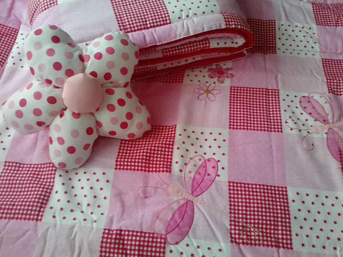 Set Acolchado + Chichonera Bordados, Estampados, Patchwork - $ 355 ...