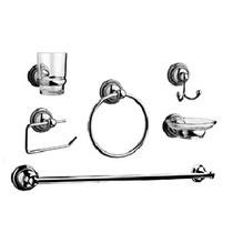 Set Accesorios Baño 100% Metal 6 Piezas + Vaso 5 Años Gtia