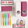 Dispenser Pasta Dental + Porta Cepillos 2 En 1 Soporte Ouch