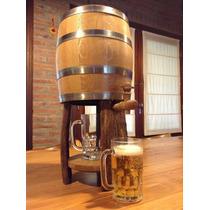 Chopera Para Cerveza Tonel Cervecero Roble Dispenser 5lts