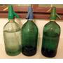 Antiguos Sifones De Soda De Vidrio Tallado, Vintage, Unidad