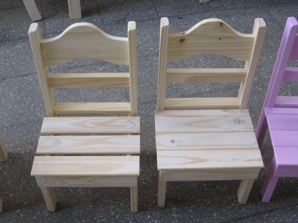 Silla de madera para ni os imagui - Pintar sillas de madera ...