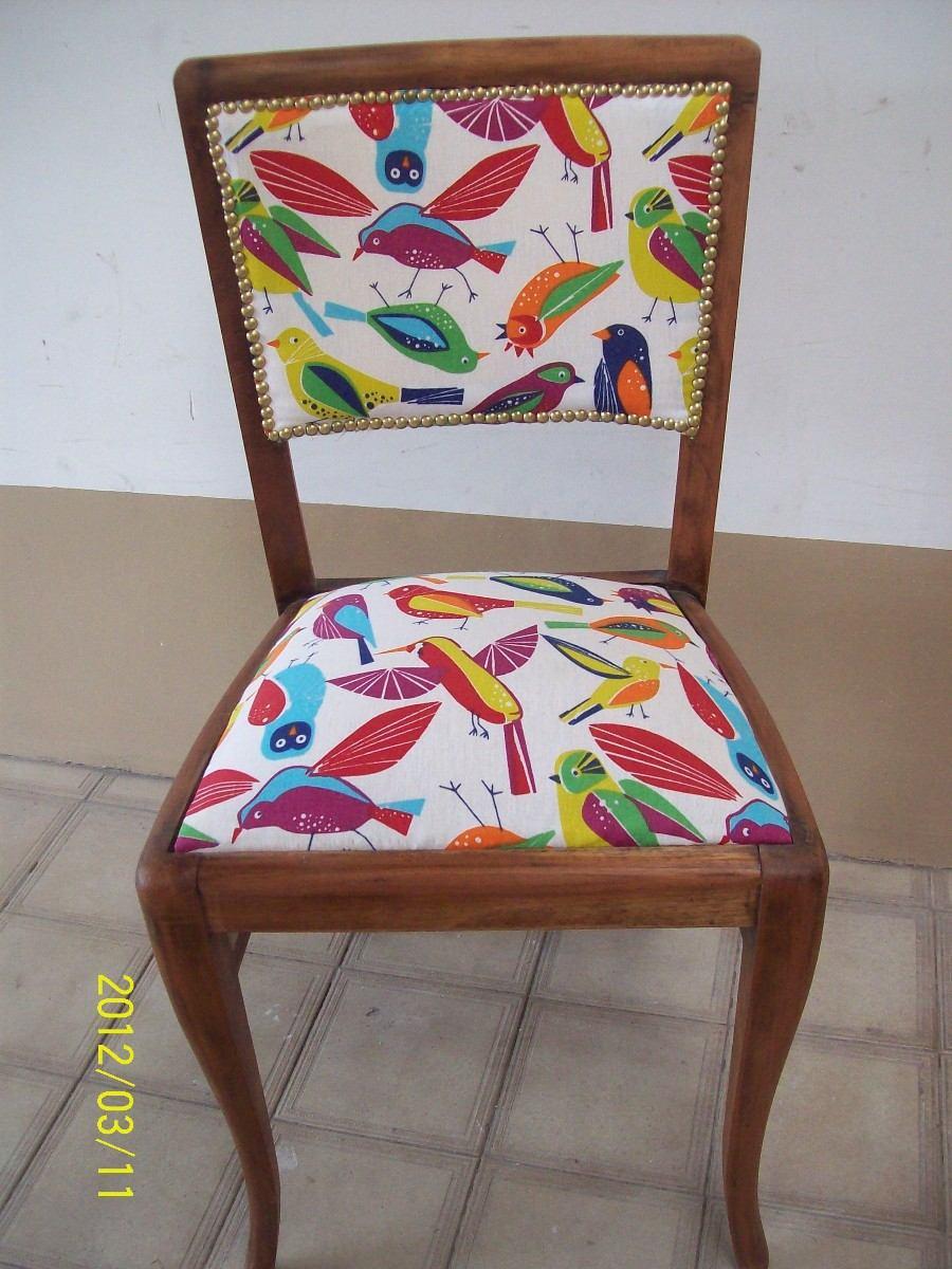Sill n luis xv tapizado nuevo hecho a nuevo sin uso for Telas para tapizar sillas de comedor antiguas