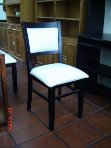 silla moderna madera guatamb wengue cuerina carpinteriadm